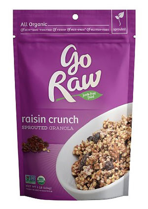 Organic Raisin Crunch Sprouted Granola by Go Raw