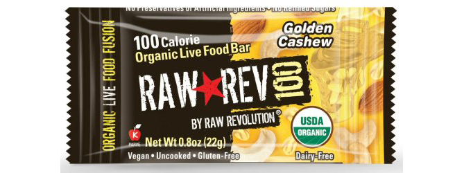 Raw Rev 100 Organic Live Food Bar by Raw Revolution, Golden Cashew