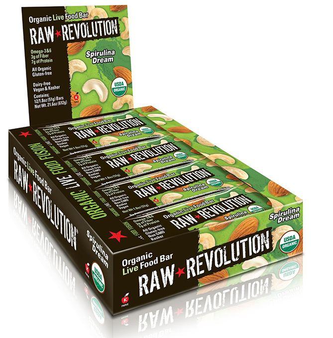 Raw Revolution Organic Live Spirulina Food Bar
