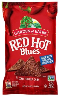 Red Hot Blues Corn Tortilla Chips by Garden of Eatin'