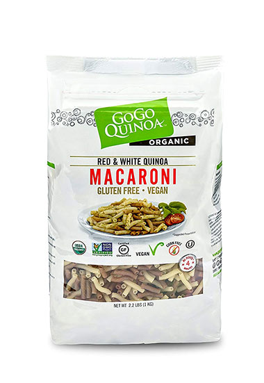 Red and White Vegan Macaroni by GoGo Quinoa