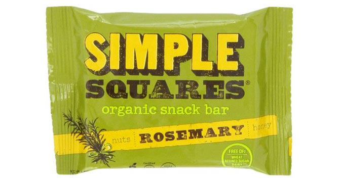 Simple Squares Rosemary, Nut and Honey Snack Bar