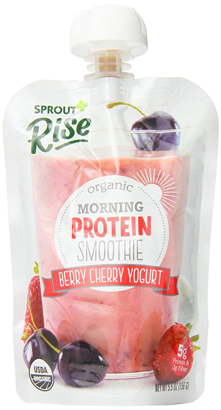 Sprout Berry and Cherry Yogurt Morning Protein Smoothie