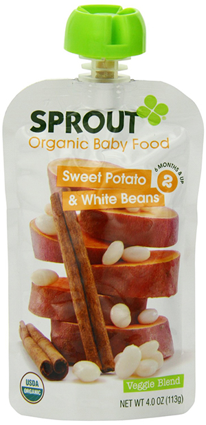 Sprout Organic Baby Food with Sweet Potato and White Beans