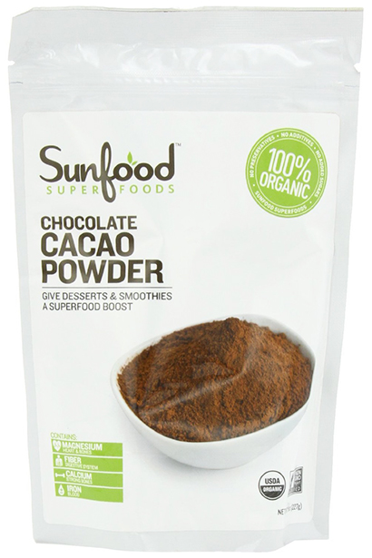 Sunfood Organic Chocolate Cacao Powder