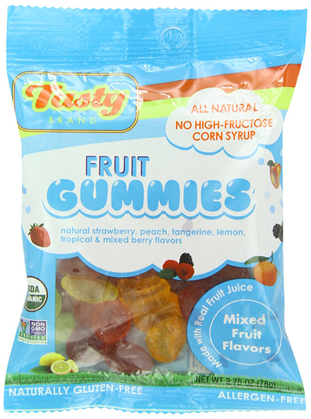 Tasty Brand Organic Jelly Candy Snacks