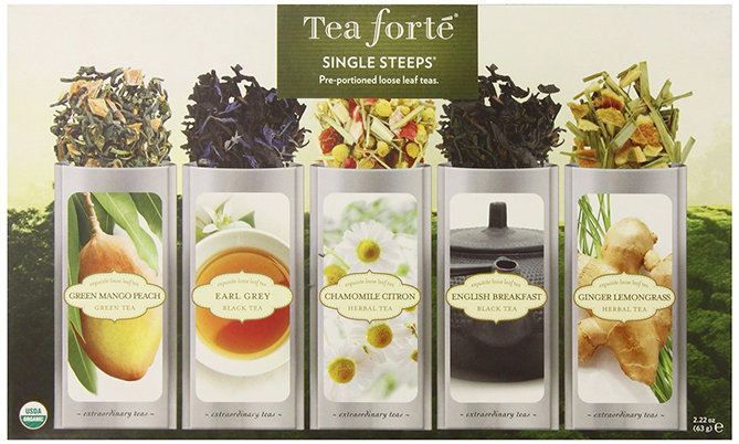 Tea Forte Single Steeps Premium Organic Leaf-Loose Teas