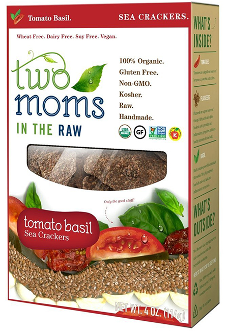 Two Moms In The Raw Organic Tomato Basil Sea Crackers