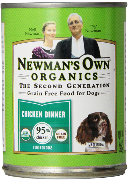 Newman's Own Organics USDA Certified Organic Food For Dogs With Chicken