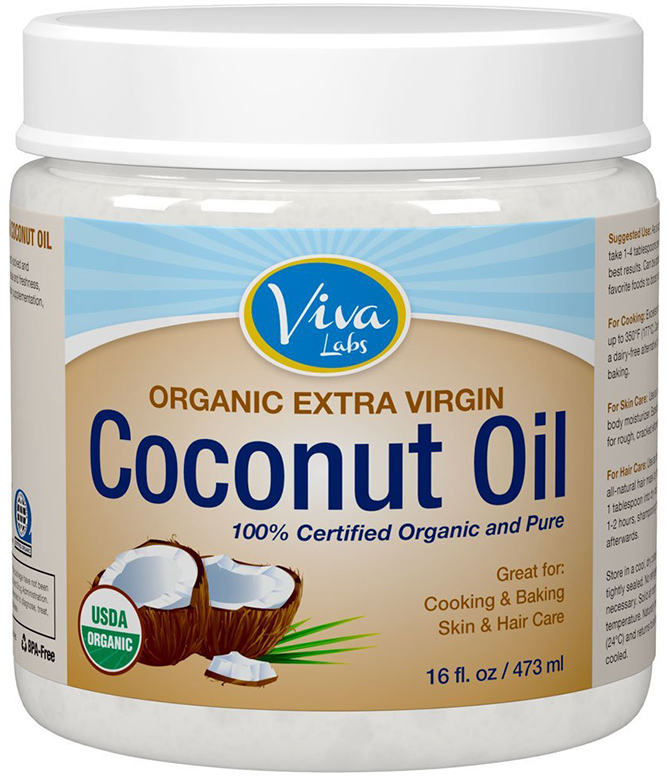 Viva Labs Pure Organic Extra Virgin Coconut Oil